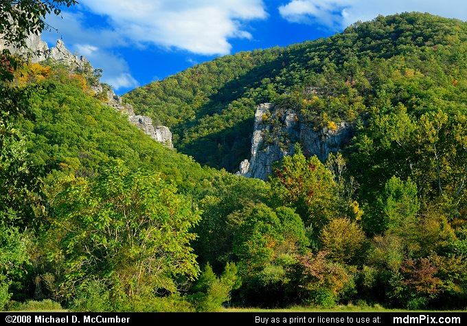 Seneca Rocks (Seneca Rocks Picture 024 - October 4, 2008 from Spruce Knob/Seneca Rocks National Recreation Area)
