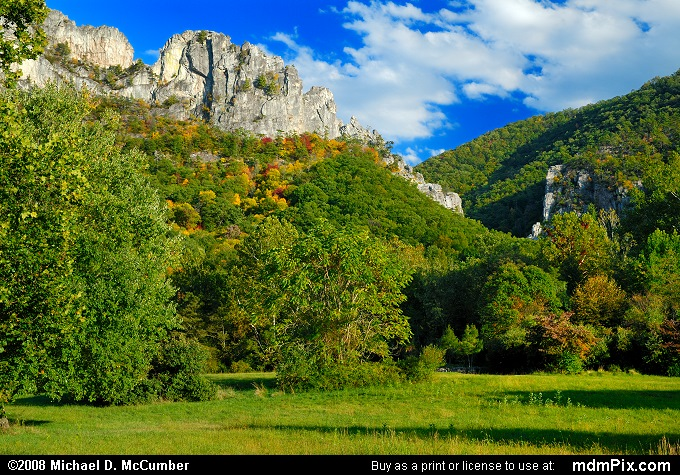 Seneca Rocks (Seneca Rocks Picture 026 - October 4, 2008 from Spruce Knob/Seneca Rocks National Recreation Area)