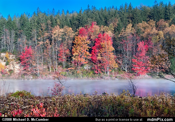 Frosty Mists Rising from Pendleton Lake