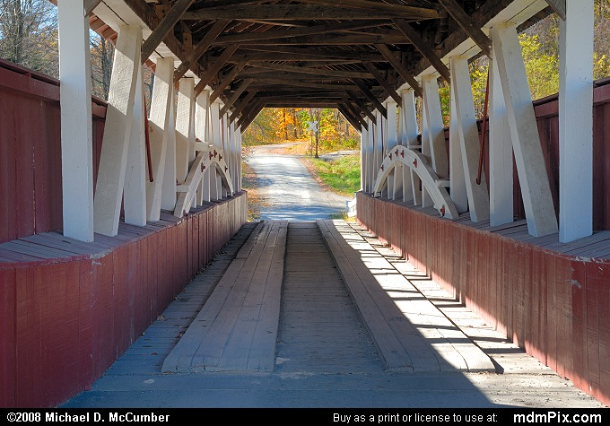 Glessner Covered Bridge (Glessner Covered Bridge Picture 003 - October 19, 2008 from Stoneycreek Township, Pennsylvania)