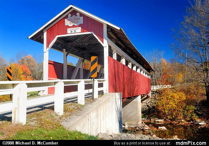 Glessner Covered Bridge (Glessner Covered Bridge Picture 004 - October 19, 2008 from Stoneycreek Township, Pennsylvania)