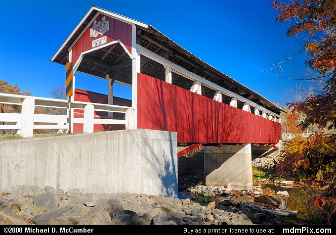 Glessner Covered Bridge (Glessner Covered Bridge Picture 005 - October 19, 2008 from Stoneycreek Township, Pennsylvania)