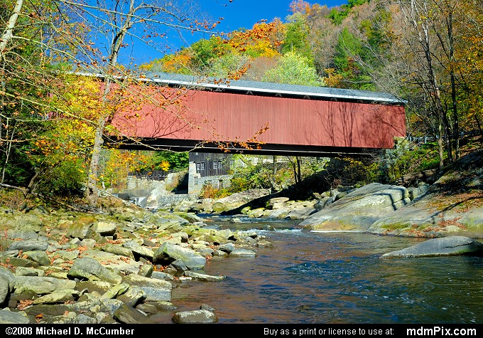 McConnells Mill Covered Bridge (McConnells Mill Covered Bridge Picture 027 - October 20, 2008 from McConnells Mill State Park, Pennsylvania)