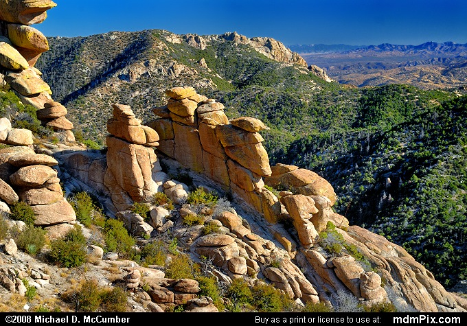 Mount Lemmon Rock Formations and Vista