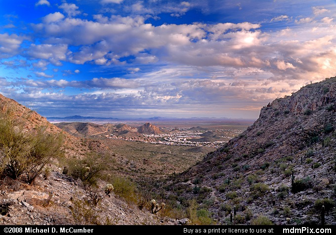 Gila Valley Vista South Mountain Park at Evening