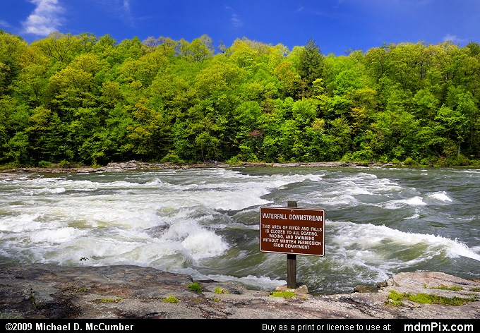 Youghiogheny River (Youghiogheny River Picture 004 - May 10, 2009 from Ohiopyle State Park, Pennsylvania)