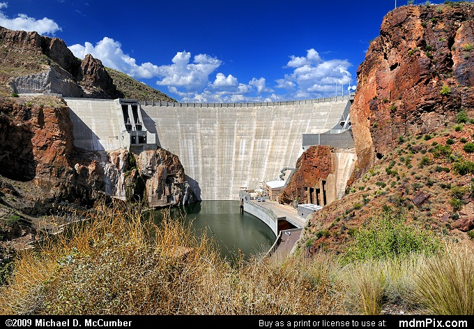 Salt River's Theodore Roosevelt Dam from Alchesay Canyon