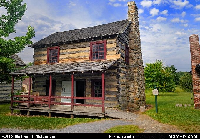 Log Cabin House at Old Bedford Village