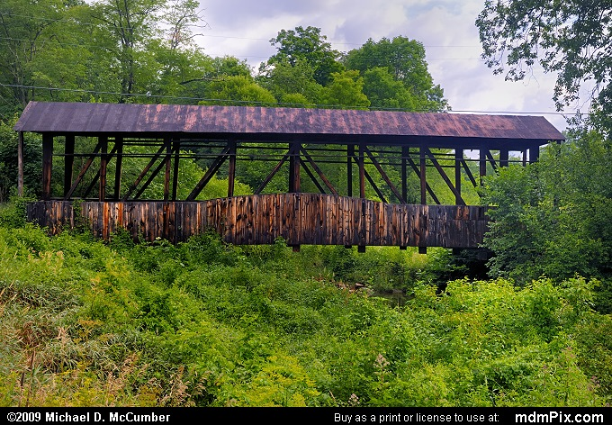 Cuppett's Covered Bridge (Cuppett's Covered Bridge Picture 006 - July 18, 2009 from New Paris, Pennsylvania)