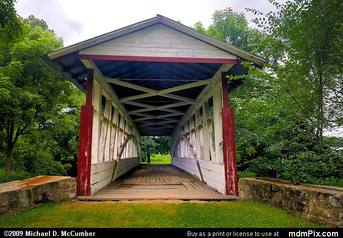 Dr. Knisely Covered Bridge (Dr. Knisely Covered Bridge Picture 020 - July 18, 2009 from Pleasantville, Pennsylvania)