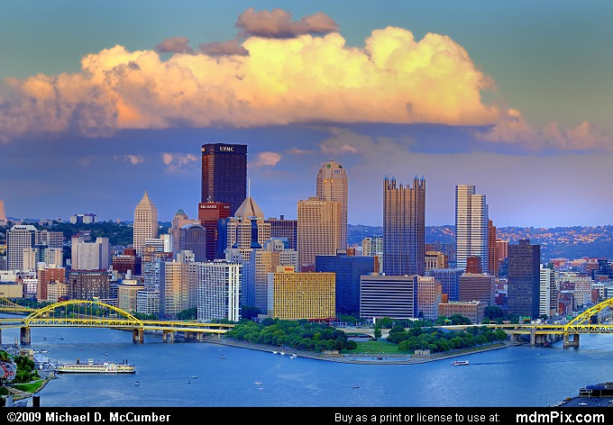 Pittsburgh Skyline Picture 019 - August 29, 2009 from ...