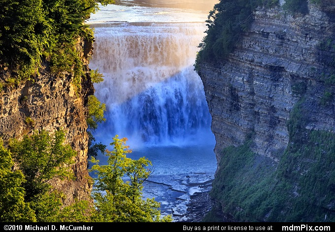 Genesee River Gorge Cliffs and Middle Falls