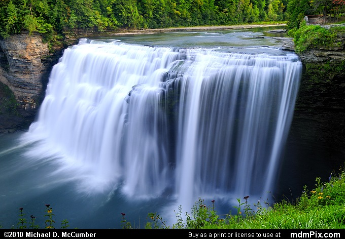 Middle Falls of Genesee River at 105 Feet Tall