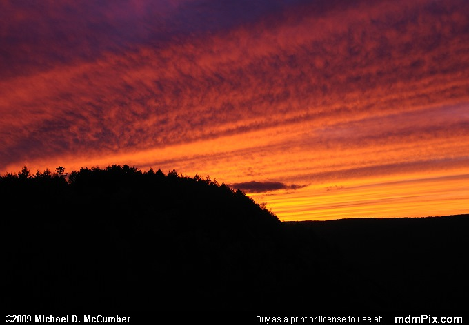 Sunset (Sunset Picture 061 - October 10, 2009 from Blackwater Falls State Park, West Virginia)