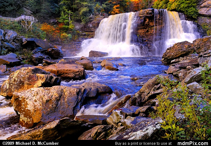 Downstream from Blackwater Falls in West Virginia