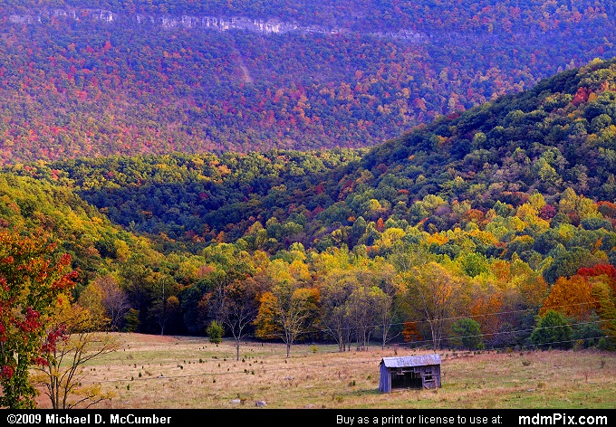 Cave Mountain (Cave Mountain Picture 121 - October 12, 2009 from Spruce Knob/Seneca Rocks National Recreation Area)