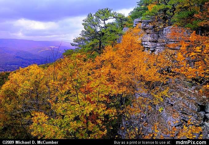North Fork Mountain (North Fork Mountain Picture 002 - October 13, 2009 from Spruce Knob/Seneca Rocks National Recreation Area)