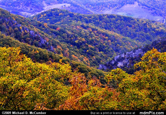 North Fork Valley (North Fork Valley Picture 004 - October 13, 2009 from Spruce Knob/Seneca Rocks National Recreation Area)
