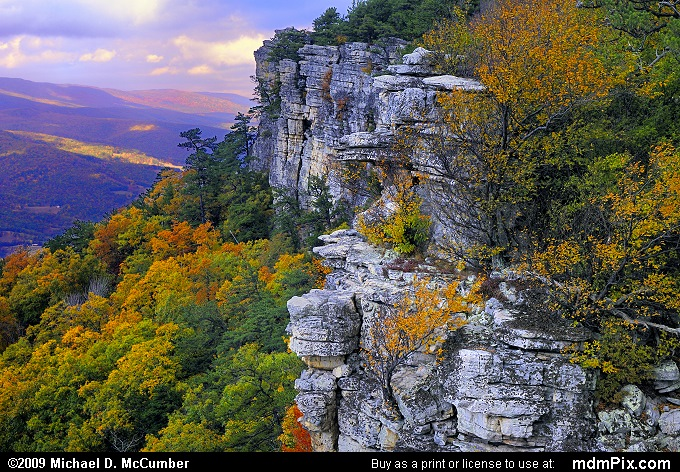 Falcon Cliff (Falcon Cliff Picture 013 - October 13, 2009 from Spruce Knob/Seneca Rocks National Recreation Area)