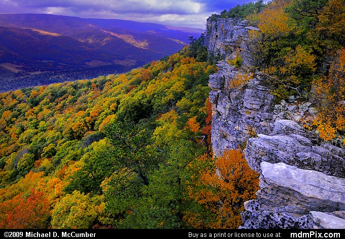 North Fork Mountain (North Fork Mountain Picture 014 - October 13, 2009 from Spruce Knob/Seneca Rocks National Recreation Area)