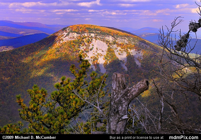 North Fork Mountain (North Fork Mountain Picture 041 - October 13, 2009 from Spruce Knob/Seneca Rocks National Recreation Area)