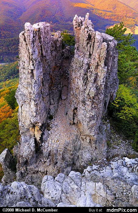 Chimney Top on North Fork Mtn (Chimney Top on North Fork Mtn Picture 043 - October 13, 2009 from Spruce Knob/Seneca Rocks National Recreation Area)