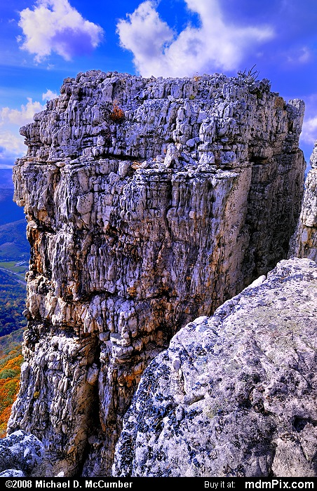 Chimney Top on North Fork Mtn (Chimney Top on North Fork Mtn Picture 051 - October 13, 2009 from Spruce Knob/Seneca Rocks National Recreation Area)