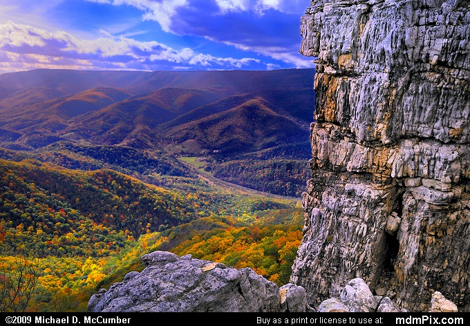 Allegheny Front (Allegheny Front Picture 057 - October 13, 2009 from Spruce Knob/Seneca Rocks National Recreation Area)