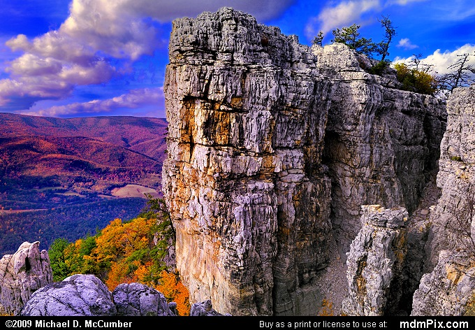 Chimney Top Rock On North Fork Mountain Picture