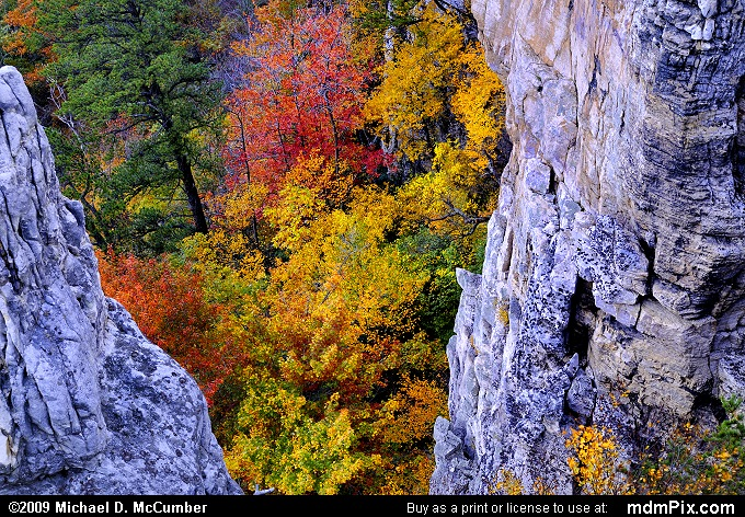 Chimney Top on North Fork Mtn (Chimney Top on North Fork Mtn Picture 069 - October 13, 2009 from Spruce Knob/Seneca Rocks National Recreation Area)
