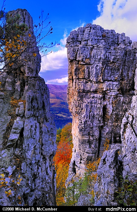 Chimney Top on North Fork Mtn (Chimney Top on North Fork Mtn Picture 071 - October 13, 2009 from Spruce Knob/Seneca Rocks National Recreation Area)