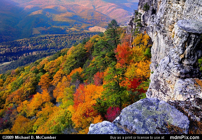Chimney Top on North Fork Mtn (Chimney Top on North Fork Mtn Picture 075 - October 13, 2009 from Spruce Knob/Seneca Rocks National Recreation Area)