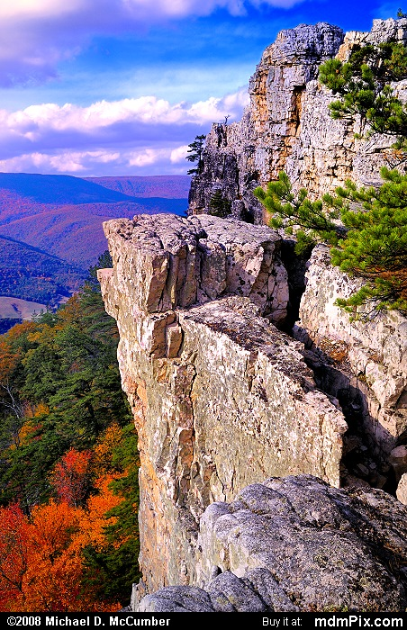 Chimney Top on North Fork Mtn (Chimney Top on North Fork Mtn Picture 082 - October 13, 2009 from Spruce Knob/Seneca Rocks National Recreation Area)