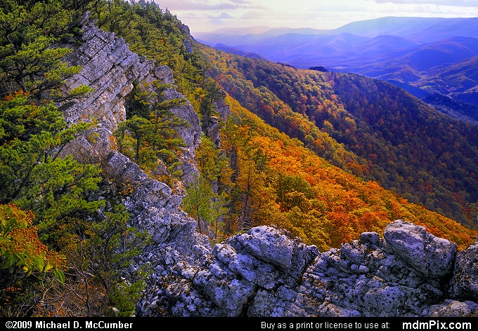 North Fork Mountain (North Fork Mountain Picture 097 - October 13, 2009 from Spruce Knob/Seneca Rocks National Recreation Area)