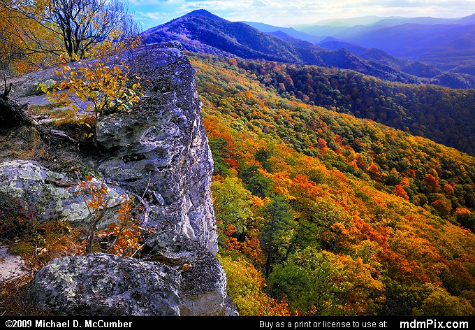 North Fork Mountain (North Fork Mountain Picture 099 - October 13, 2009 from Spruce Knob/Seneca Rocks National Recreation Area)