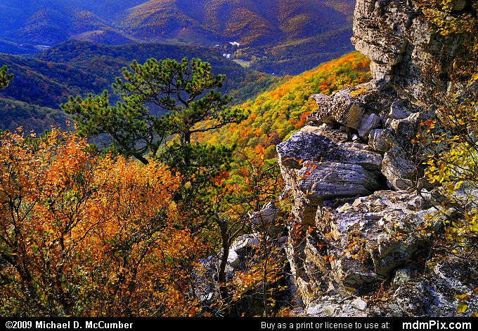North Fork Mountain (North Fork Mountain Picture 107 - October 13, 2009 from Spruce Knob/Seneca Rocks National Recreation Area)