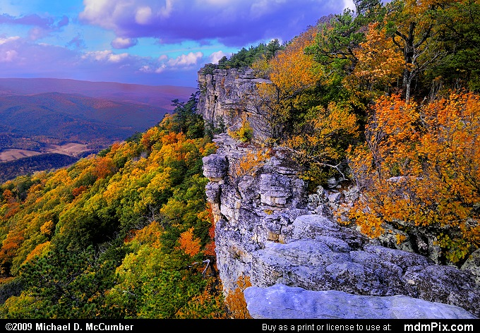 North Fork Mountain (North Fork Mountain Picture 112 - October 13, 2009 from Spruce Knob/Seneca Rocks National Recreation Area)
