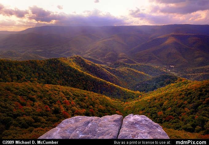 Allegheny Front (Allegheny Front Picture 116 - October 13, 2009 from Spruce Knob/Seneca Rocks National Recreation Area)