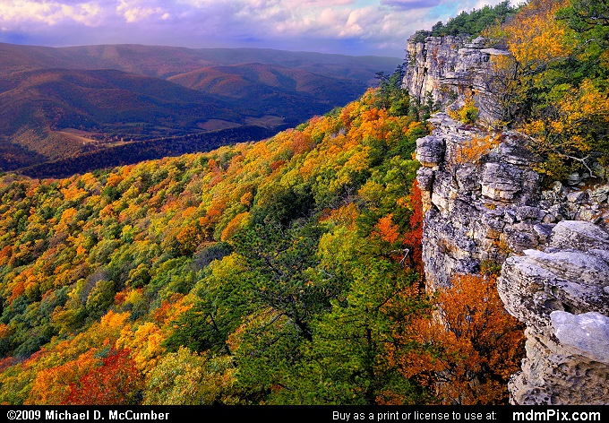 Falcon Cliff (Falcon Cliff Picture 118 - October 13, 2009 from Spruce Knob/Seneca Rocks National Recreation Area)