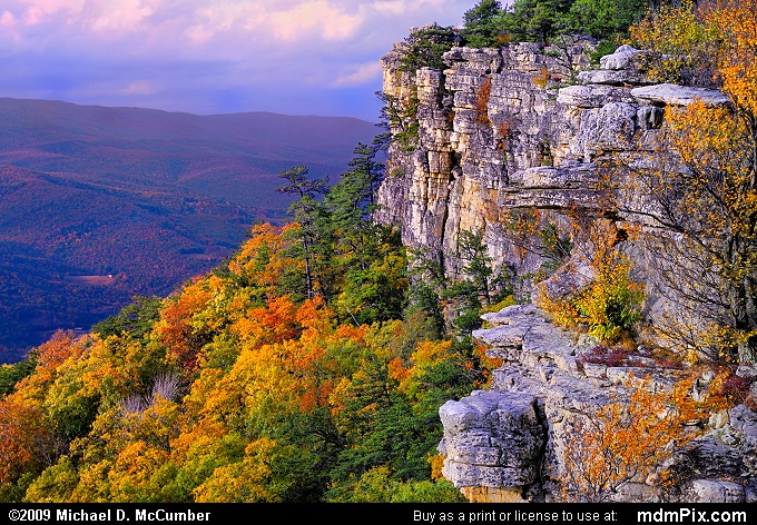 Falcon Cliff (Falcon Cliff Picture 119 - October 13, 2009 from Spruce Knob/Seneca Rocks National Recreation Area)