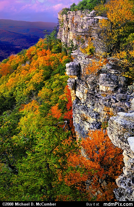 Falcon Cliff (Falcon Cliff Picture 121 - October 13, 2009 from Spruce Knob/Seneca Rocks National Recreation Area)