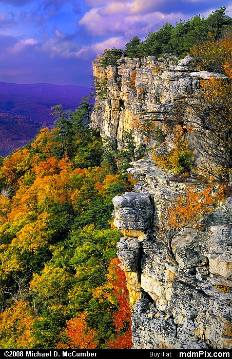 Falcon Cliff (Falcon Cliff Picture 122 - October 13, 2009 from Spruce Knob/Seneca Rocks National Recreation Area)