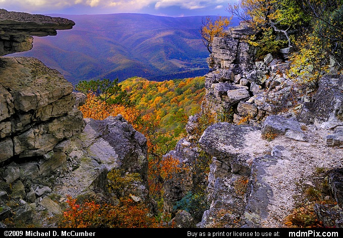North Fork Mountain (North Fork Mountain Picture 137 - October 13, 2009 from Spruce Knob/Seneca Rocks National Recreation Area)