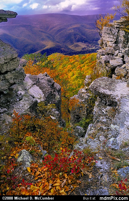 North Fork Mountain (North Fork Mountain Picture 138 - October 13, 2009 from Spruce Knob/Seneca Rocks National Recreation Area)