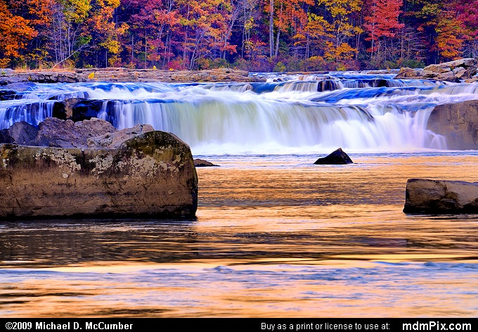 Ohiopyle Falls on the Youghiogheny River at Sunset