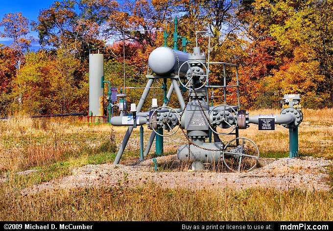 Gas Well (Gas Well Picture 044 - October 22, 2009 from South Union Township (Fayette County), Pennsylvania)