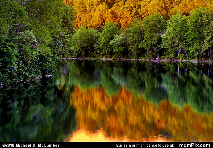 Youghiogheny River with Sunset Gold near Connellsville