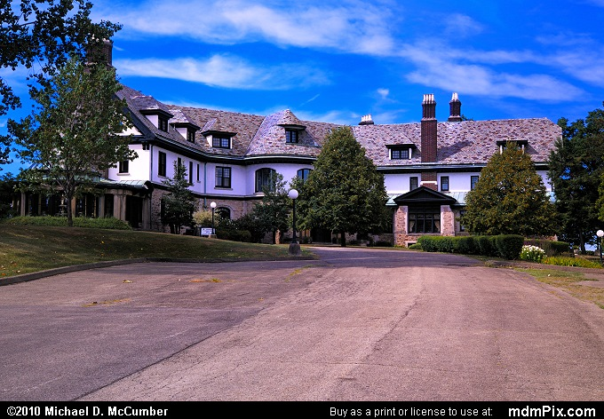 Mansion at Linden Hall (Mansion at Linden Hall Picture 042 - August 17, 2010 from Dawson, Pennsylvania)