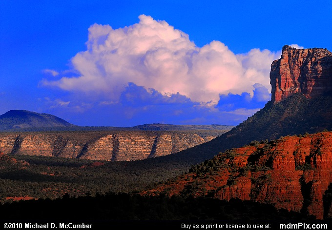 Thunderhead Behind Mogollon Rim and Courthouse Butte