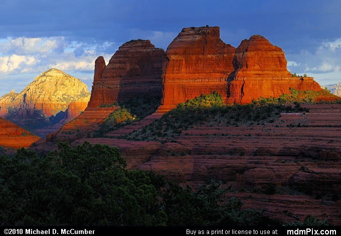 Thumb Butte and the Bench (Thumb Butte and the Bench Picture 007 - September 20, 2010 from Sedona, Arizona)